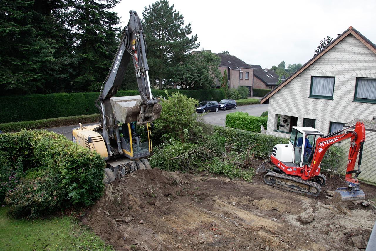 Terrassement sur la commune de Saint-Ouen des Toits (Mayenne, 53)